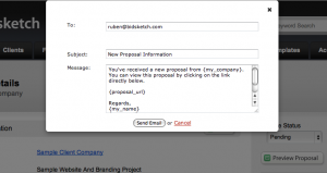 Customize Client Proposal Notifications