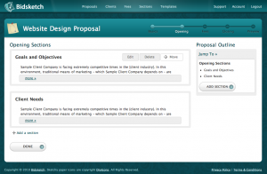 Proposal Sections