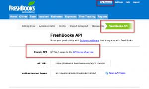 FreshBooks Enable API