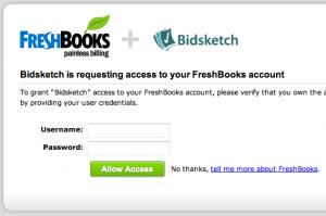 FreshBooks OAuth