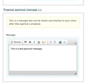 Approval Message Form