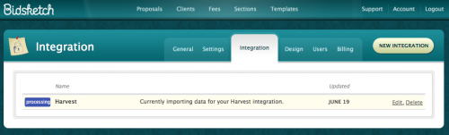 Harvest Client Import