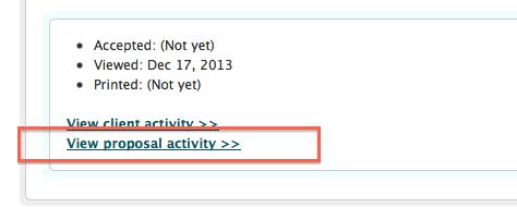 Proposal Activity Link