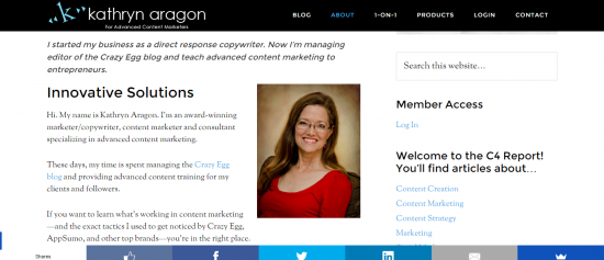 Content Marketing Consultant Kathryn Aragon