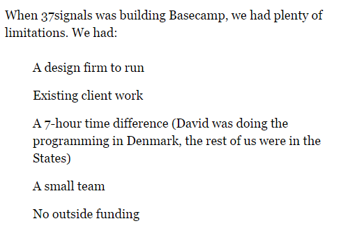 basecamp constraints