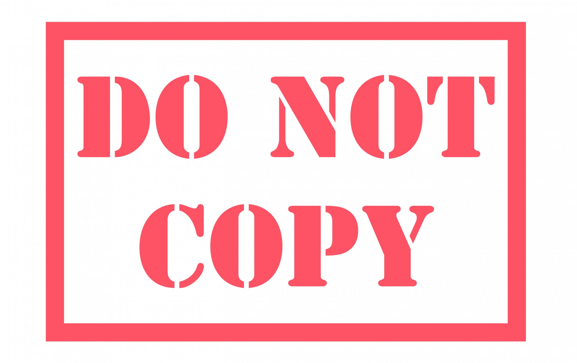 "A red stamp, with ""Do not copy"" written on it."