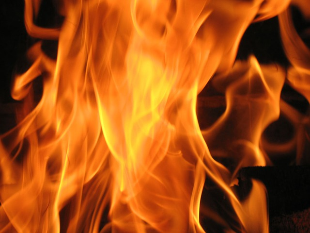 A close-up of an open flame.