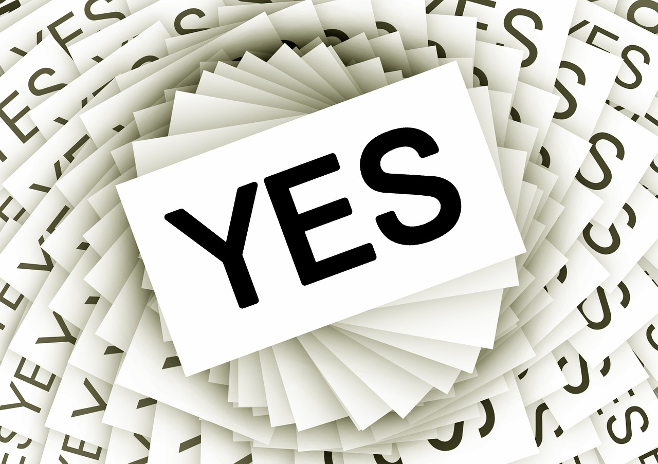 Image of a YES sign